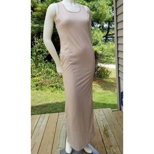 Ruiyige Olive Tan Maxi Dress, L, NWT